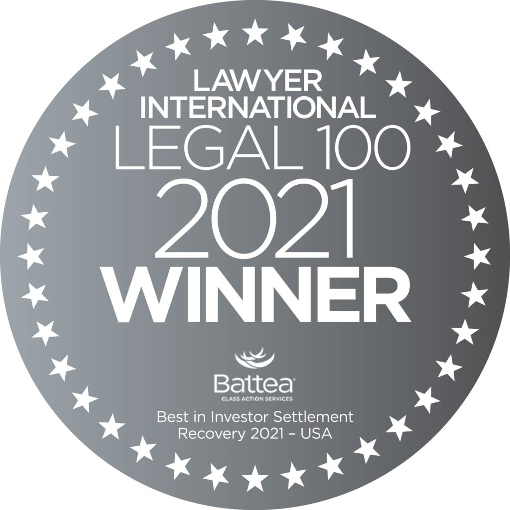Legal 100_Best in Investor_2021